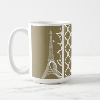 Dark Tan Quatrefoil Coffee Mug