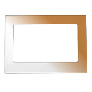 Dark Tan White Ombre Magnetic Frame