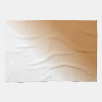 Dark Tan White Ombre Towels