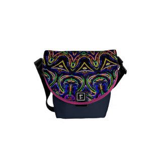 Dark Tapestry Kaleidoscope Messenger Bag