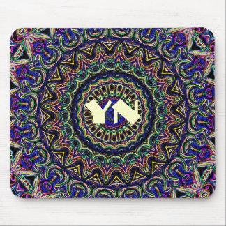 Dark Tapestry Kaleidoscope Mouse Pad
