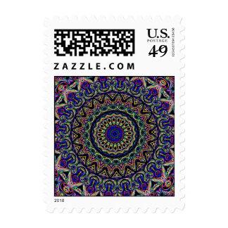Dark Tapestry Kaleidoscope Postage Stamp