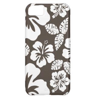 Dark Taupe Tropical Hibiscus Case For iPhone 5C