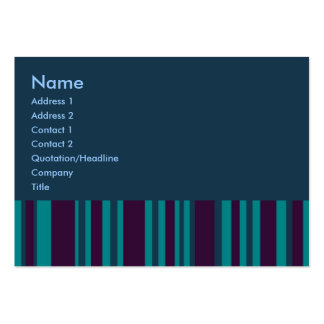 Dark teal and blue stripes business cards