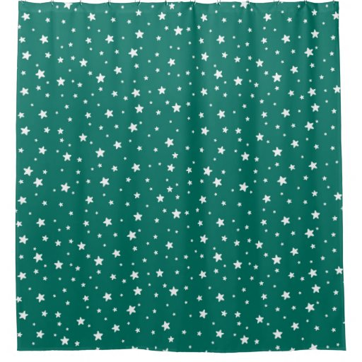 Dark Teal And White Stars Celestial Sky Shower Curtain Zazzle