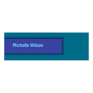 Dark Teal blue mod box Double-Sided Mini Business Cards (Pack Of 20)