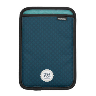 Dark Teal/Blue Personalized Monogram Sleeve For iPad Mini