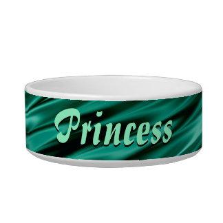 Dark teal green satin waves bowl