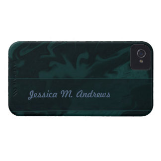 Dark Teal Marblized iPhone 4 Cover