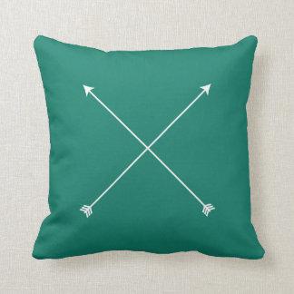 Dark Teal Modern Arrow Minimal Throw Pillow