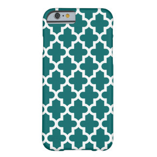 Dark Teal Modern Moroccan Pattern Barely There iPhone 6 Case