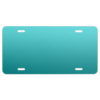 """Dark Teal Ombre"" License Plate"