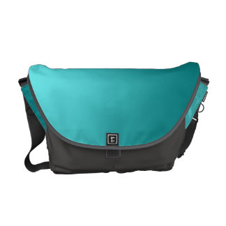 Dark Teal Ombre Messenger Bag