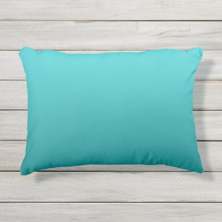Dark Teal Ombre Outdoor Pillow