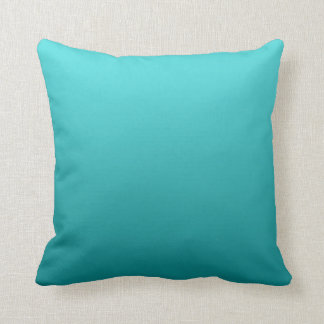 """Dark Teal Ombre"" Throw Pillow"