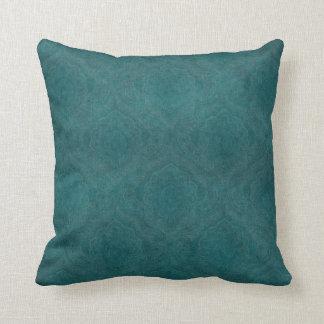 Dark Teal Pattern background Throw Pillow