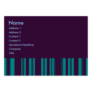 dark teal purple stripes business cards