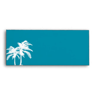 Dark Teal / Turquoise Envelope with Palm Trees