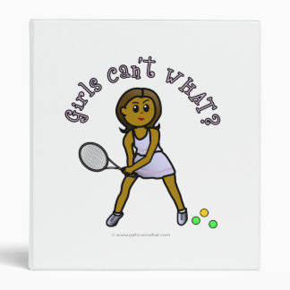 Dark Tennis Player Girl Vinyl Binders