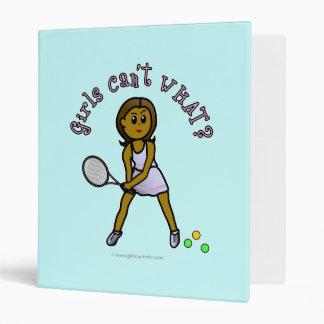 Dark Tennis Player Girl Binders