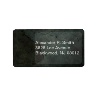 Dark Texture Address Labels