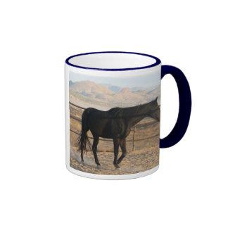 Dark Thoroughbred Horse Coffee Mug