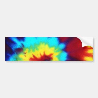 Dark Tie Dye Design Car Bumper Sticker