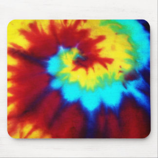 Dark Tie Dye Design Mouse Pad