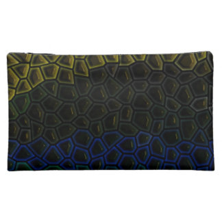 Dark tile pattern cosmetic bag