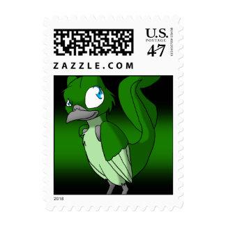 Dark-Tinted Reptilian Bird Stamp