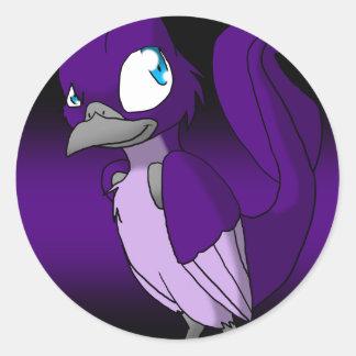 Dark-Tinted Reptilian Bird Sticker