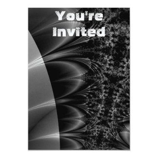 Dark Trace Fractal 5x7 Paper Invitation Card