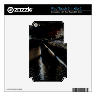 Dark Train Tracks Decals For iPod Touch 4G
