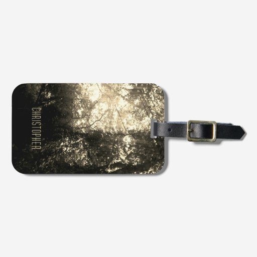 Dark Tree Foliage Photo Personalize Luggage Tag