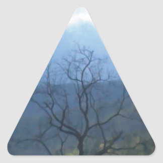 dark tree stormy skys triangle sticker