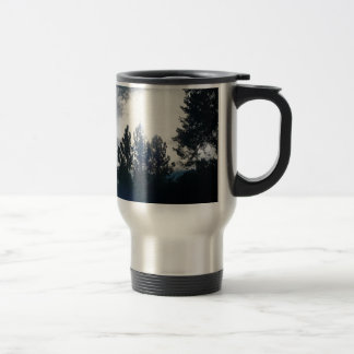 Dark Trees, Light Sky Travel Mug