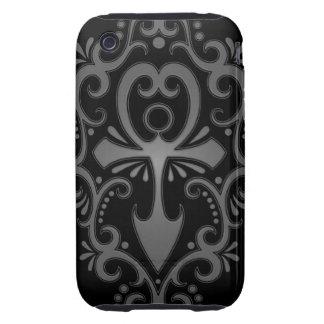 Dark Tribal Ankh Tough iPhone 3 Case
