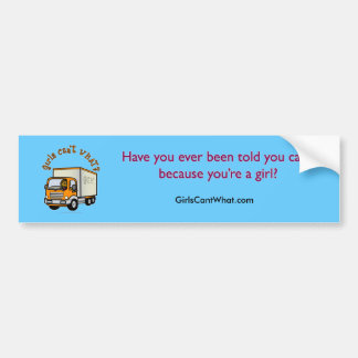 Dark Truck Driver Girl Bumper Sticker