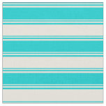[ Thumbnail: Dark Turquoise and Beige Colored Pattern Fabric ]