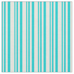 [ Thumbnail: Dark Turquoise and Beige Pattern Fabric ]