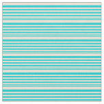 [ Thumbnail: Dark Turquoise and Bisque Striped Pattern Fabric ]