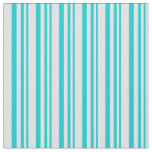 [ Thumbnail: Dark Turquoise and Lavender Lined/Striped Pattern Fabric ]