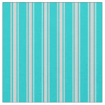 [ Thumbnail: Dark Turquoise and Light Gray Pattern Fabric ]