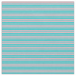 [ Thumbnail: Dark Turquoise and Light Pink Colored Stripes Fabric ]