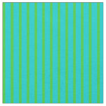 [ Thumbnail: Dark Turquoise and Lime Green Colored Pattern Fabric ]
