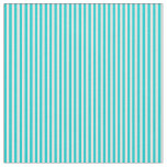 [ Thumbnail: Dark Turquoise and Mint Cream Stripes Pattern Fabric ]