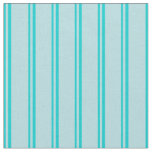 [ Thumbnail: Dark Turquoise and Powder Blue Lined Pattern Fabric ]