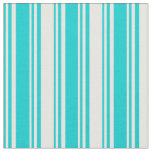 [ Thumbnail: Dark Turquoise and White Colored Pattern Fabric ]
