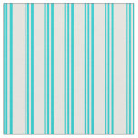 [ Thumbnail: Dark Turquoise and White Colored Striped Pattern Fabric ]