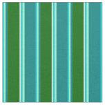 [ Thumbnail: Dark Turquoise, Aquamarine, Teal, Green & White Fabric ]